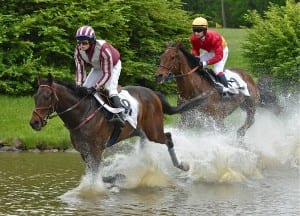 Steeplechase officials hope they're not all wet in introducing wagering.  Douglas Lees photo.