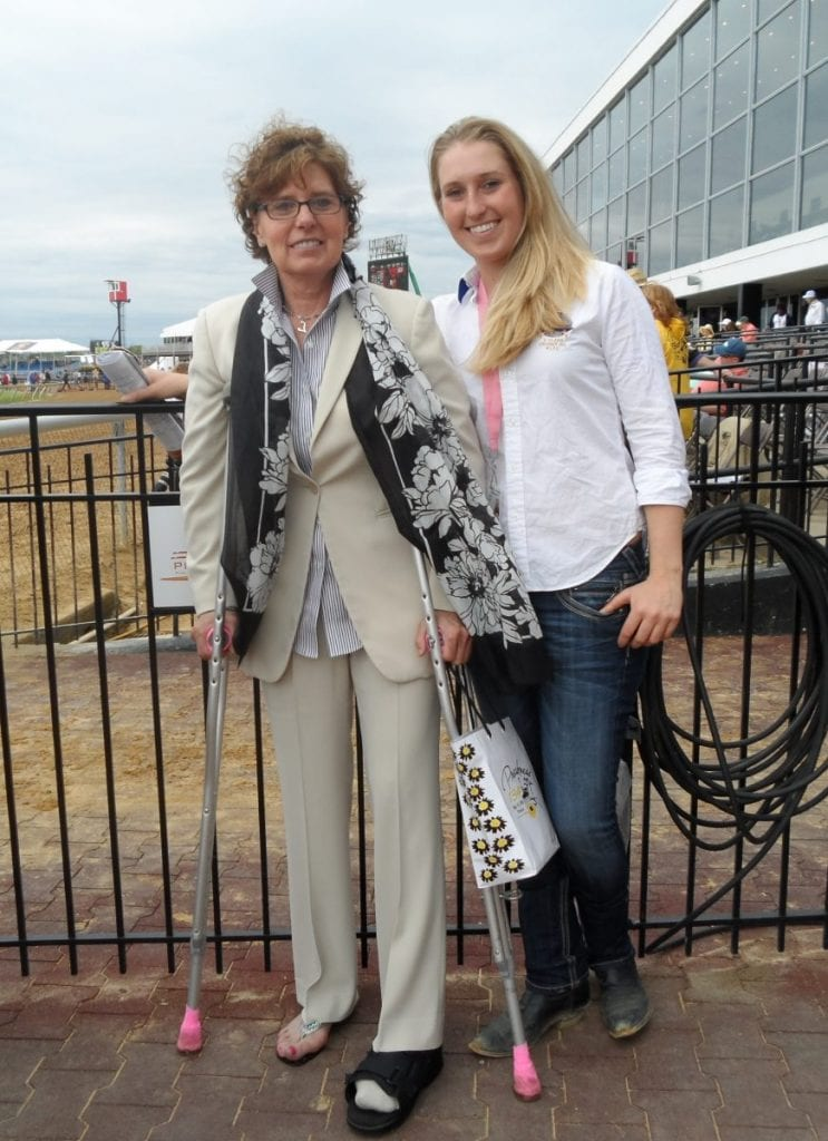 Lacey Gaudet (right) with mother Linda.  Photo by Teresa Genaro.