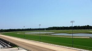 Colonial's turf course is looking good as the opening of the meet nears.  Photo by Nick Hahn.