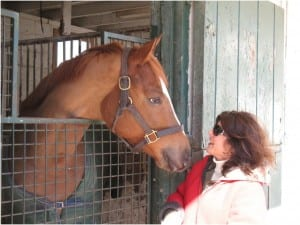 Lynn Horvath and Lacrosse Moon share a moment.  Photo by Michael Horvath.
