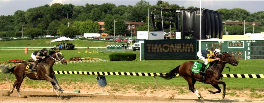 Skeleton Crew's been plying his trade for a long time.  Here, winning a 2007 race at Timonium.
