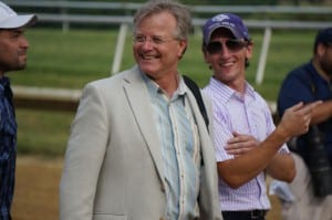Trainer Bill Mott had plenty to smile about after Royal Delta's win.  Photo by Vas.
