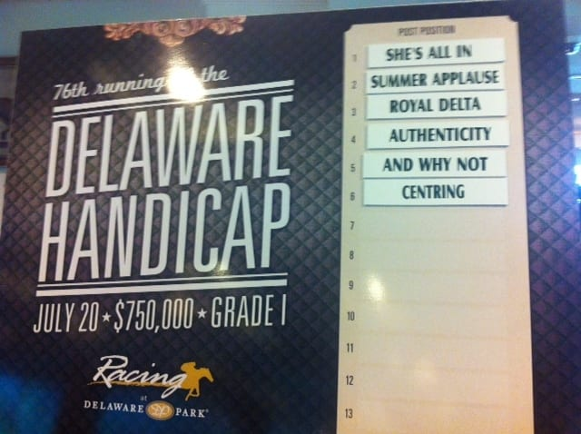 Delaware Handicap defending champ Royal Delta installed as even money favorite