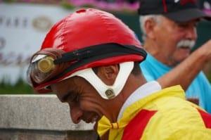 "Jose Caraballo fits Winning Image ""like a glove.""  Photo by Vas."