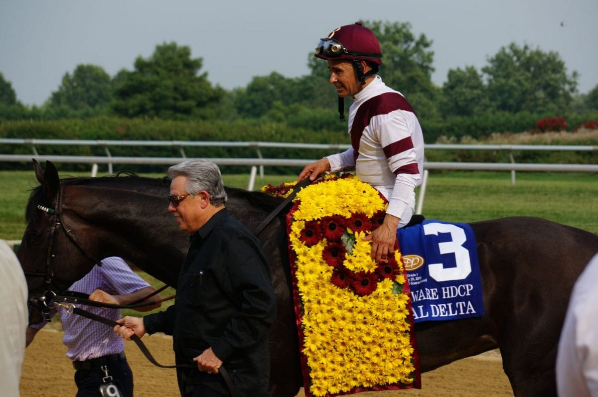 After Delaware Handicap, Royal Delta's future may be Lasix-free