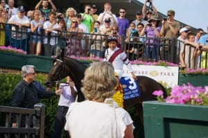The Delaware meet is highlighted, as always, by the July 12 Grade 1 Delaware Handicap, won last year by Royal Delta. Photo by Vas.