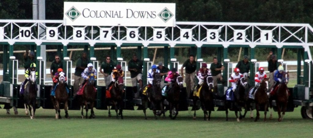 Colonial starting gate. Photo by Laurie Asseo.