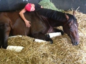 Jen Patterson and Orb, stacking some Zzzzs.