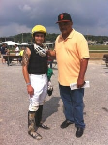 Xavier Perez, left, and J.D. Brown at Timonium.