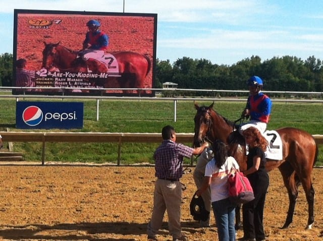 Are You Kidding Me is no joke in the G3 Kent at Delaware Park