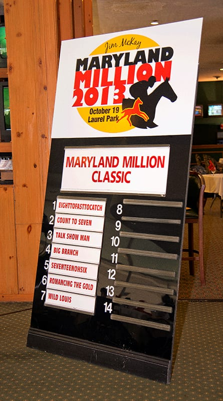Nearly 200 pre-entered into Maryland Million races