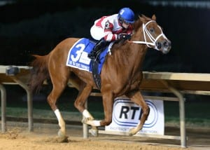 Amherst Street rolls in the Tri-State Futurity.  Photo by Coady Photography.