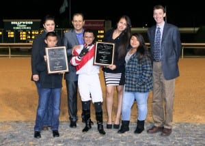 Happy connections after the Tri-State Futurity.  Photo by Coady Photography.