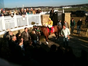 A festive crowd as Rapid Redux wins for the 19th consecutive time in 2011, and 21st overall.  Photo by The Racing Biz.
