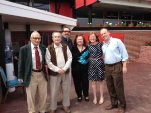 From left, Tony Marino, Fred Tallarico, Michael Tallarico, Dianne Tallarico, Erin Vespe, and the author.
