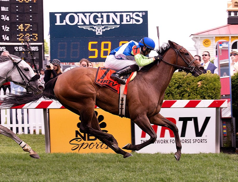 Ageless shoots up the rail to win The Very One Stakes