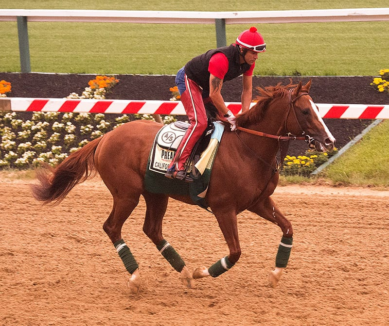 Trainer Sherman pleased with California Chrome gallop