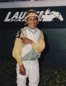 Edgar Prado.  Maryland Jockey Club photo.