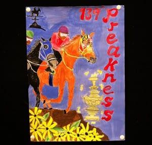 The winning poster.  Photo by Jim McCue, Maryland Jockey Club.