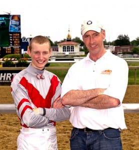 Trevor McCarthy and Kieron Magee. Photo by Jim McCue, Maryland Jockey Club.