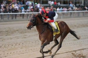 Tonalist wins the Peter Pan. Photo by NYRA/Chelsea Durand.