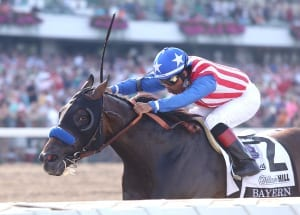 Bayern rolls to Haskell glory.  Photo By Bill Denver/EQUI-PHOTO.