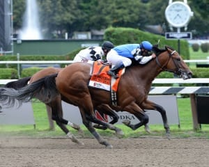 The Big Beast's King's Bishop win vaulted him to the head of the class. Photo by NYRA/Lauren King.