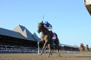 I Spent It wins the Saratoga Special. Photo by NYRA/Adam Coglianese.