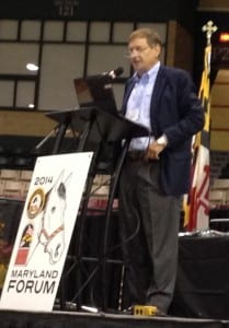 Dover Saddlery president and CEO Stephen Day addresses the Maryland Horse Forum.