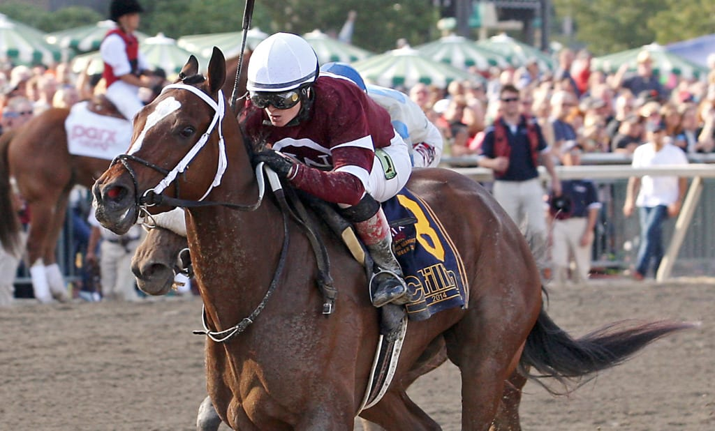 Untapable proved best in the Cotillion at Parx Racing.  Photo By Bill Denver  / EQUI-PHOTO