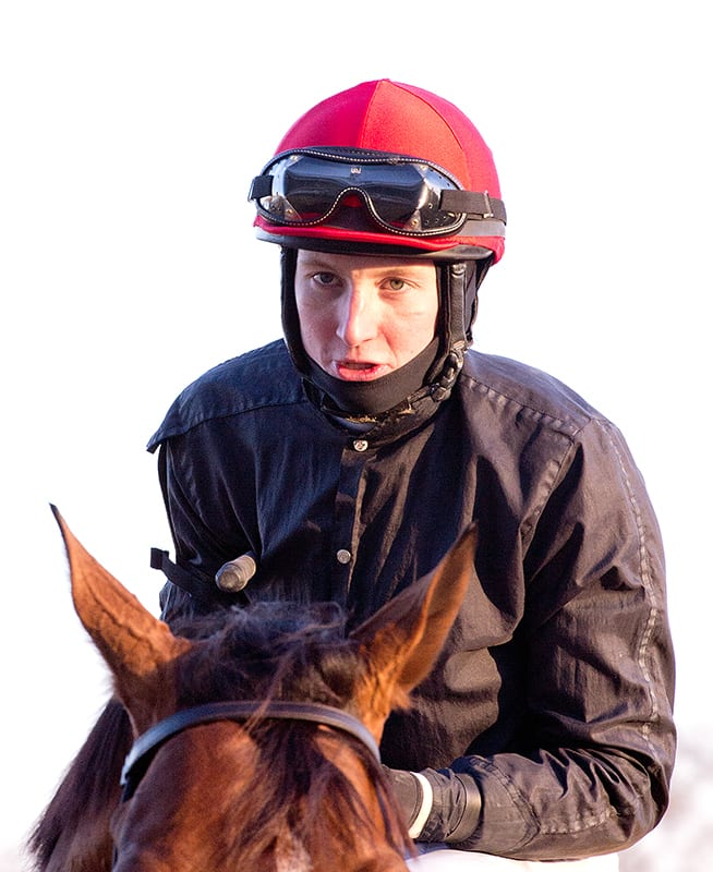 Trevor McCarthy takes command of Laurel jockey race