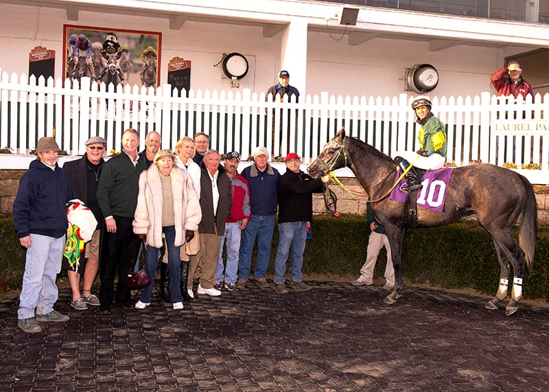 Cutty Shark was one of Victor Carrasco's three winners on the day. Photo by  Jim McCue, Maryland Jockey Club.