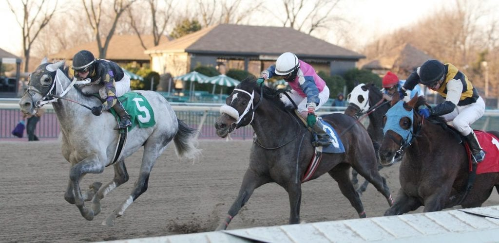 Praetereo (#5) is along in time to take the Valley Forge S. Photo By Bill Denver/EQUI-PHOTO