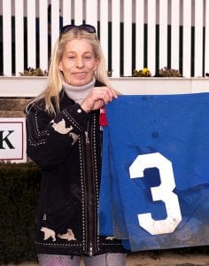 Mary Eppler. Photo by Jim McCue, Maryland Jockey Club.