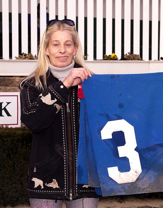 Mary Eppler. Photo by Jim McCue, Maryland Jockey Club.