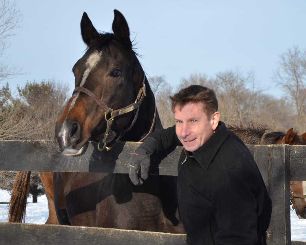 Matt McCarron and friend. Photo courtesy of Country Life Farm.