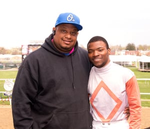 Avon (left) and Darius Thorpe. Photo by Jim McCue, Maryland Jockey Club.