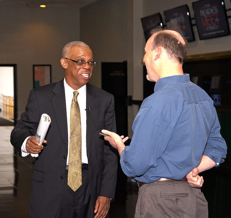 Xtra Heat co-owner Ken Taylor speaks with the media. Photo by Jim McCue, Maryland Jockey Club.