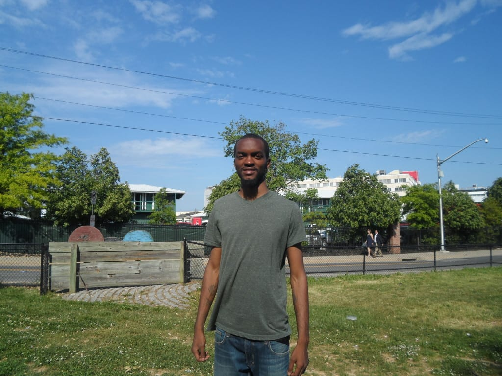 Aaron Dove stands outside of Pimlico. Photo by Teresa Genaro.
