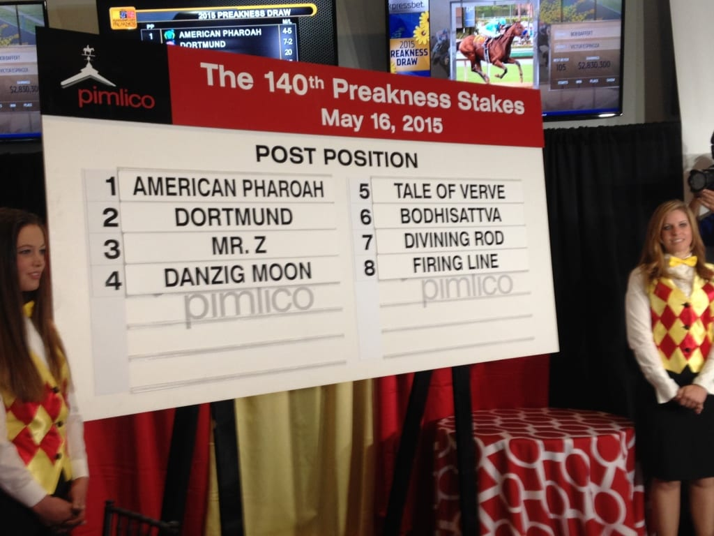Preakness post positions (and hostesses).