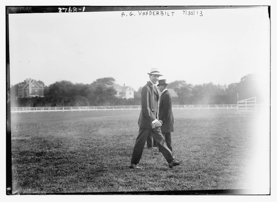 Alfred Gwynne Vanderbilt -- Alfred III's grandfather. Alfred II will enter racing's Hall of Fame in August as a Pillar of the Turf. Photo courtesy of the Library of Congress.