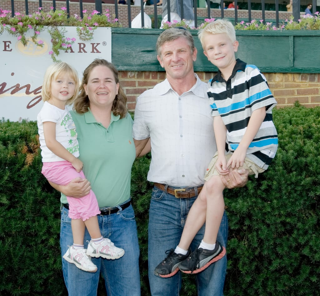 All in the family: Keeley, Tracey Randy and Taven Nunley in 2012. Photo by HoofprintsInc.com