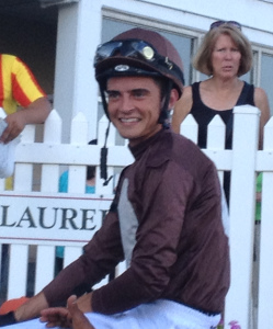 Sheldon Russell, all smiles after winning aboard Wild Chatter.