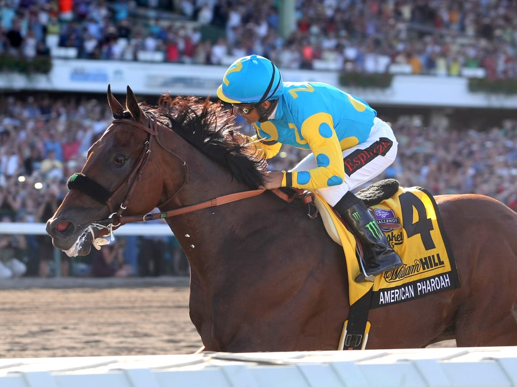 American Pharoah wins the Haskell. Photo By Bill Denver/EQUI-PHOTO.