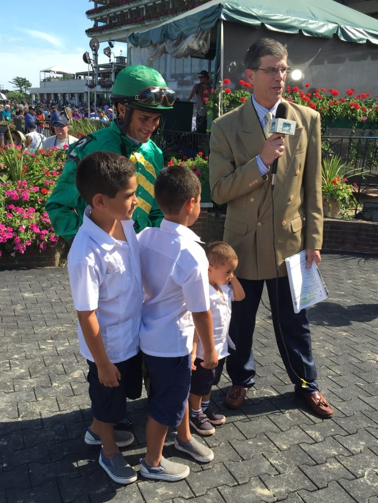 Abel Castellano and his boys celebrate his win in the G3 Matchmaker. Photo by Dan Tordjman.
