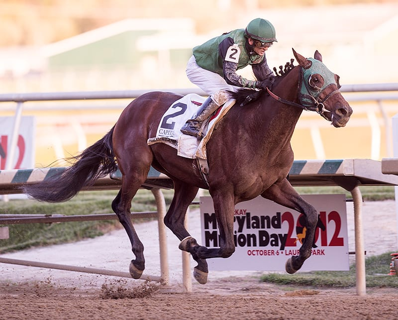 Old-timer Not Abroad returns to Maryland Million