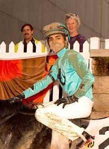 Keiber Rengifo. Photo by Jim McCue, Maryland Jockey Club.