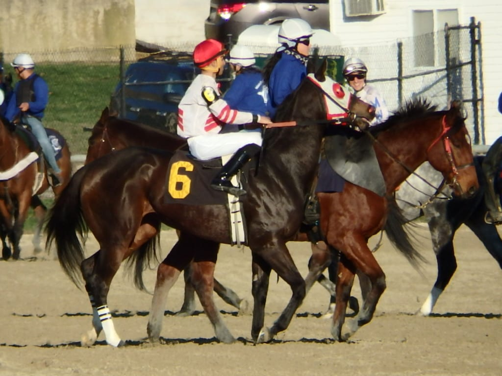 Keiber Rengifo rode Awake the Day on Sunday at Laurel Park. Photo by The Racing Biz.