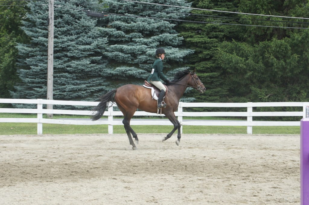 Candy Feat and Emma Meister in a competition. Photo by Kathryn Sharp.