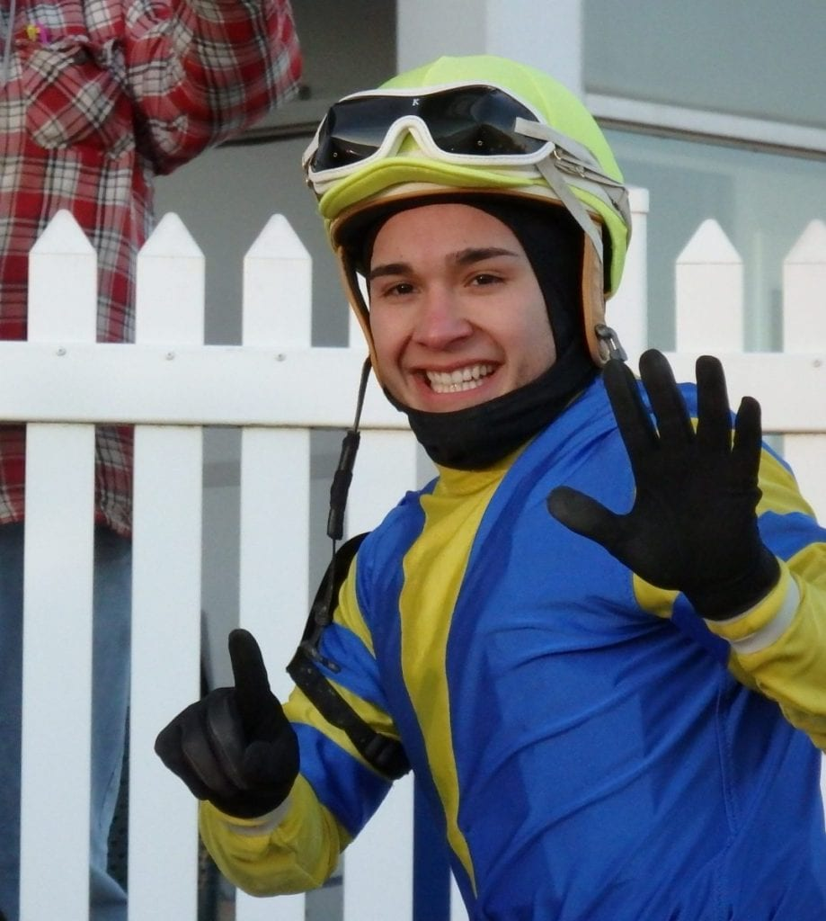 Nik Juarez struck a pose after winning six times at Laurel Park on January 11.